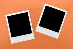 Blank instant camera film frame Stock Photos