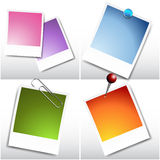 Blank Instant Film Sheets. An image of a set of blank instant film sheets Royalty Free Stock Photos