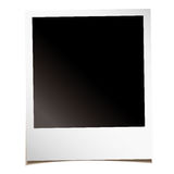 Blank instant photo. Single blank instant photograph with shadow and room to add your own image Stock Images