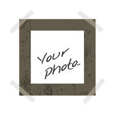 Blank instant photo Royalty Free Stock Photo