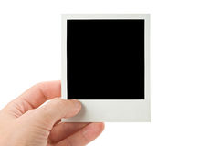 Blank instant photo Stock Images