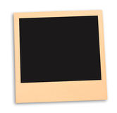 Blank instant photo with black space isolated on white. ready to ad your photo Stock Photo