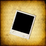 Blank instant photo frame on old paper Royalty Free Stock Photos