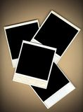 Blank Instant Photo Frames stock images