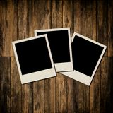 Blank instant photo frames Royalty Free Stock Photography
