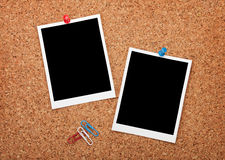 Blank instant photo frames Royalty Free Stock Photos