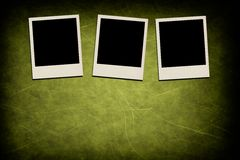 Blank instant photo frames on grunge background Stock Photography