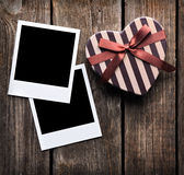Blank instant photo frames with heart Stock Image