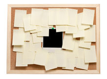 Blank instant photo and note papers Royalty Free Stock Images