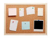 Blank instant photo and note papers Stock Images