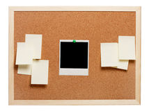 Blank instant photo and note papers Stock Photos