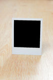 Blank instant photo Stock Photography