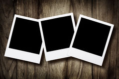 Blank instant photos Royalty Free Stock Photography