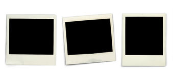 Blank instant photos Stock Photo