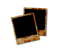 Blank instant photos. Royalty Free Stock Photos