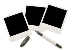 Blank instant photos Stock Images