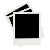 Blank instant photos Stock Photography