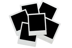 Blank instant photos Stock Photos