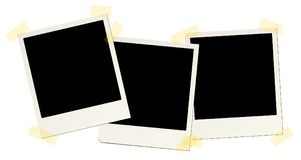 3 blank instant picture frames Royalty Free Stock Images