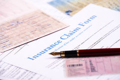 Blank insurance claim form Stock Images