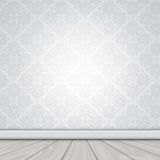 Blank interior with wallpaper and wood floor Royalty Free Stock Images