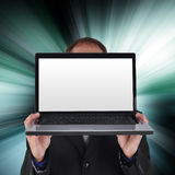 Blank Internet Laptop Screen stock images