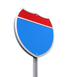 Blank Interstate Road Sign Stock Photos