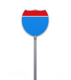Blank Interstate Road Sign Royalty Free Stock Photo
