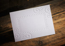 Blank Invitation Royalty Free Stock Photography