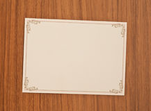 Blank invitation card Royalty Free Stock Images