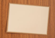Blank invitation card Stock Photography