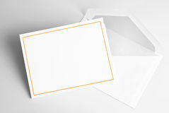 Blank invitation card and envelope royalty free illustration