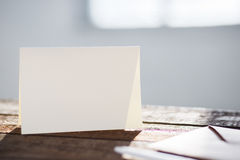 Blank invitation greetings card Stock Photos