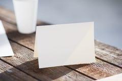 Blank invitation greetings card Royalty Free Stock Image
