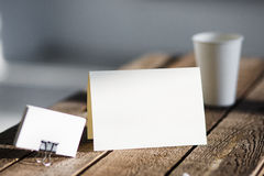 Blank invitation greetings card stock photo