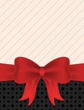 Blank invitation with red ribbon bow. Blank invitation card design with red ribbon bow Stock Photos
