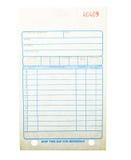 Blank invoice Stock Photography