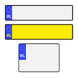 Blank Irish Licence Plates Royalty Free Stock Images