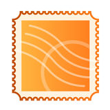 Blank isolated mail stamp. Illustration of mail stamp on white background Royalty Free Stock Images