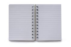 Blank isolated notepad Royalty Free Stock Images