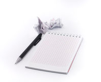 Blank isolated notepad with clipping path Royalty Free Stock Photography