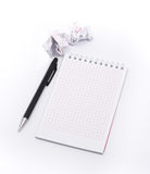 Blank isolated notepad with clipping path Stock Photos