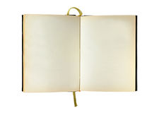 Blank isolated opened book Royalty Free Stock Photography