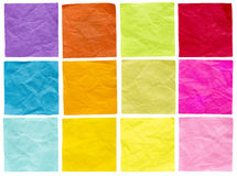 Blank isolated sticky notes Stock Images