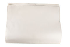 blank isolerad tidningspapperswhite Royaltyfri Bild