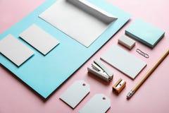 Blank items as mockups for branding stock image