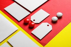 Blank items as mockups for branding royalty free stock photography