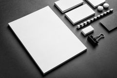 Blank items as mockups for branding royalty free stock photos