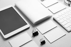Blank items as mockups for branding royalty free stock images