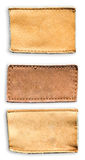 Blank Jean Lable Leather Stock Images
